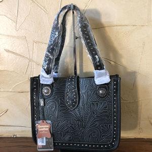 Montana West Genuine Leather Small Handbag